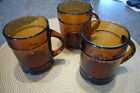 Fire-King 3 amber BARREL MUGS
