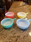 Vintage GLASBAKE Chili Or French Onion Soup Handled Bowls Set of 4