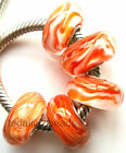 Wholesale Silver Lampwork Murano Glass Beads Fit European Charm Bracelet TF243