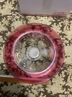 Indiana Glass Ruby Red cranberries Thumbprint Wide Rime Bowl 11