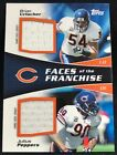 2011 Topps Faces of the Franchise Dual Jerseys 50 Bears Urlacher Peppers