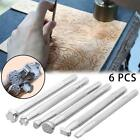 6X Leather Craft Metal Engrave Stamping Embossing Mold DIY Carving Printing Tool