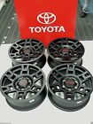 TRD Rim Set 4 Black Fits 4 Runner FJCruiser Tacoma Toyota PTR20 35110 BK