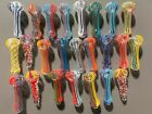 3 375 Glass Tobacco PIpes Wholesale Lot 25 Pieces