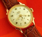 1950's ZODIAC AUTOGRAPHIC POWER RESERVE GOLDEN DIAL 31.9MM GOLD PLATED CASE
