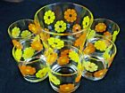 Mid Mod Bar Set Colony Daisy Flower Glasses Ice Bucket MCM Kitsch Mid Century 6