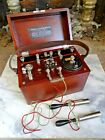 Antique CHLORIDE OF SILVER DRY CELL BATTERY Medical Quack Electric Shock Box