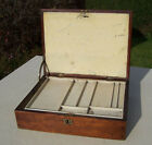 Antique/Vintage Mahogany Wooden Campaign Style Artists Box / Pochade with Key