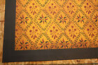 Beautiful Primitive 4'x6' floorcloth! Expertly hand-crafted at a great price!!
