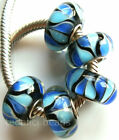 Wholesale Silver Lampwork Murano Glass Beads Fit European Charm Bracelet TF411