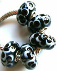 Wholesale Silver Lampwork Murano Glass Beads Fit European Charm Bracelet TF434