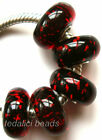 Wholesale Silver Lampwork Murano Glass Beads Fit European Charm Bracelet TF440