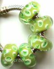 Wholesale Silver Lampwork Murano Glass Beads Fit European Charm Bracelet TF448