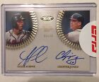 Ozzie Albies and Chipper Jones 2018 Topps Tier One Dual Auto 07 25 BV $600!