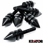 Universal Black Motorcycle Spike Bolts (Windscreen, Fairings, License Plate)