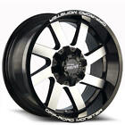 4Rims 24 Off Road Monster Wheels M80 Gloss Black Machined Off Road Rims