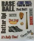 Baseball Sports Scrapbook Stickers