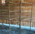 Primitive Vintage Folding Wood Herb Drying Laundry Clothes Quilt Candle Rack