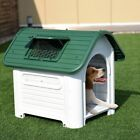 New Green Plastic Pet Dog House Puppy Shelter w Skylight