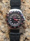 Vintage TAG HEUER Professional 200M MID-Size 35mm BLACK /PINK Dive Watch 377-513