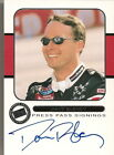 Dave Blaney PRESS PASS SIGNINGS 2001 AMOCO autographed card *FREE SHIPPING*