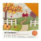 American Crafts 12x12 Autumn Textured Solid Core Cardstock 60 ct