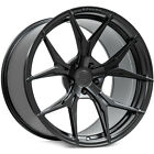 QTY4 20 Rohana Wheels RFX5 Matte Black Rims FS