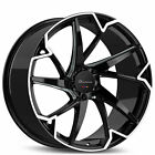 QTY4 22 Giovanna Wheels Pistola Gloss Black with Machined Face Rims FS