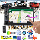 62 Double 2 DIN Car DVD Player Bluetooth Touch Screen Stereo Music Phone link