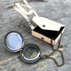 Hand Strap Leather Case with Navigation Compass Classic Gift Chain Compasses 3