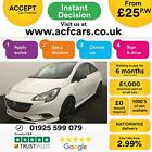 2015 WHITE VAUXHALL CORSA 12 70 LIMITED EDITION PETROL 3DR CAR FINANCE FR 25PW