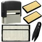 1 Pcs Custom Personalised Self Inking Rubber Stamp Kit Business Name Address DIY