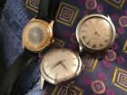 LOT of 3 Automatic Wristwatches – AS 1361N powered, Elgin, Baylor, Rado – 1950s