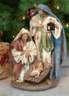 Dicksons Holy Family Nativity Natural 14 Resin Stone Christmas Holiday Figurine