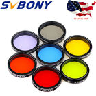 125 Eyepiece Filter Set Colored Planetary  Moon Filters Kit for Telescope US