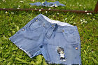 Dorothy Perkins Vtg Style Custom Hot Pants Jeans Shorts sz 6 8 Fit Big M36