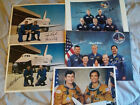 Lot of 5 NASA Autographed Autopen STS and Shuttle Related Press Photos 8X10s