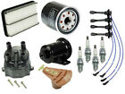 For Geo Prizm 16L L4 93 97 Tune Up KIT Filters Cap Rotor Spark Plugs+Wire Set