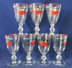 Vintage Colorful 1913 Chevrolet Mid Century Wine Cocktail Aperitif Glasses s/7