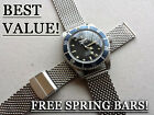 18MM RETRO MESH STAINLESS STEEL BRACELET DIVER WATCH STRAP CHRISTOPHER WARD