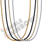 Men Stainless Steel Gold Silver Black 2mm 3mm 4mm 5mm Rope Necklace Chain Link