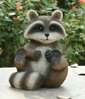 Racoon Sitting Figurine Life Like Figurine Statue Home Garden New