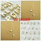 Women Gold Silver Plated Alphabet Letter w Heart A Z Pendant Chain Necklace