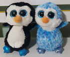 TY BEANIE PENGUIN PLUSH TOYS! WADDLES BLUE SOFT TOY ABOUT 15CM TALL KIDS TOY!