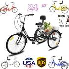 7 Speed Shimano 24 Adult 3Wheel Tricycle Trike Cruise Bike Bicycle With Basket