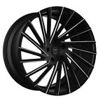 4Rims 22 Lexani Wheels Wraith Black W CNC Accents Rims CA