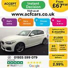 2016 WHITE BMW 120i 16 M SPORT PETROL AUTO 5DR HATCH CAR FINANCE FR 67 PW