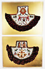 2 Central American Native Tribal Beadwork Art Picture Wall Decor Ceremony Animal