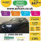 2016 BLACK AUDI A5 SPORTBACK 20 TDI 190 BLACK EDITION + CAR FINANCE FR 67 PW