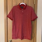 Polo Jeans Co Red Striped Polo Short Sleeve Shirt Ralph Lauren Flag Vtg